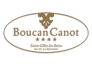 Logo couleur or hotel Boucan Canot